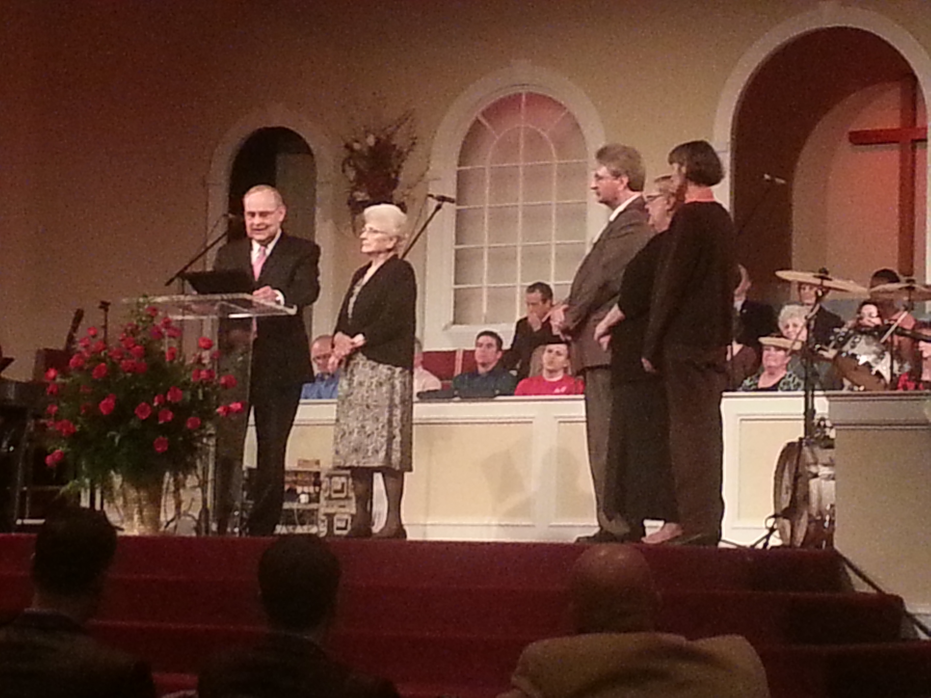 John Franzel (deceased) and family honored for church planting in Saginaw at the Winter BBFI meeting 2013 (Georgia).